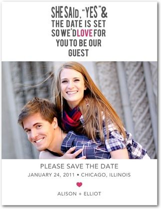 Save the Date Magnets Love It - Front : Begonia