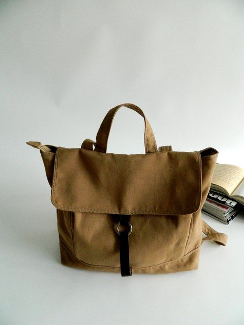 Handmade - Tanya in Camel - Backpack / Satchel / Rucksack / Laptop / Tote / Women/ For Her / For Him // SALE 30%