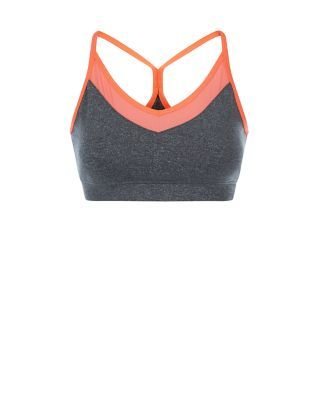 Don't sweat it, wear this Dark Grey Mesh V Neck Sports Crop Top. #newlook #sportswear