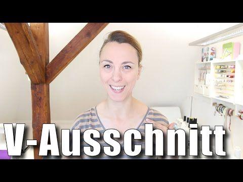 Wie man einen V-Ausschnitt mit einem Bündchen versäubern kann, zeige ich in diesem Video - *** einfach nähen - deine Nähwerkstatt in Münster Wolbeck, Nähkurs...