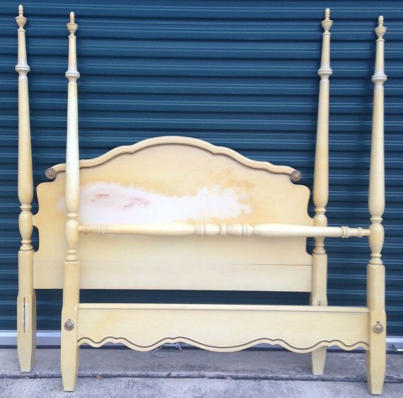 Vintage French Provincial Full Canopy Bed On Etsy 575 00