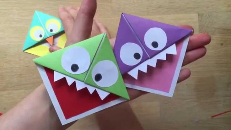 Easy Paper Monster & Owl Corner Bookmarks. Great little gift, could be used as a gift tag to use the a book gift.