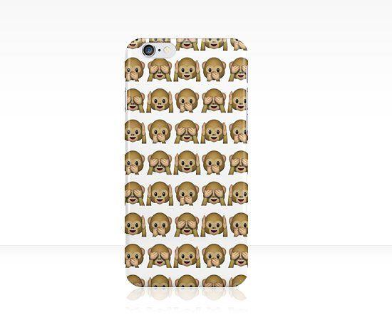 Monkey Evil Faces Emoji Phone Case ($25)