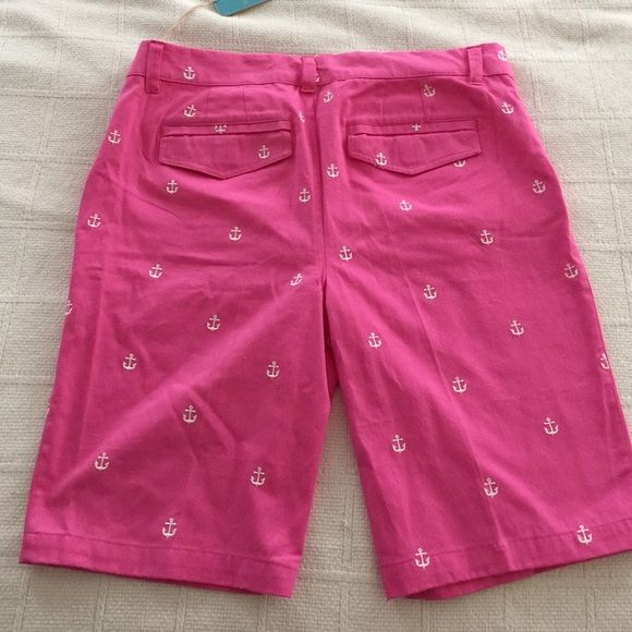 NWT! Caribbean Joe pink embroidered anchor shorts Super cute for the summer! I will bundle. Pink/ white anchor embroidered shorts. Boat, yachts, the hamptons, New England Caribbean Joe Shorts