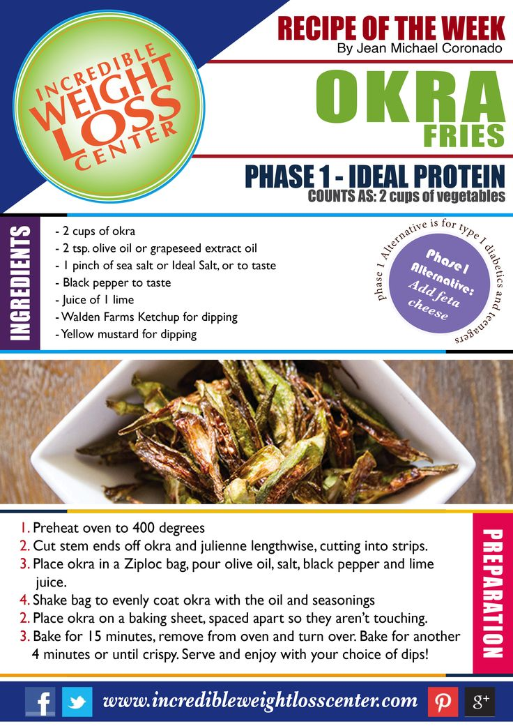 IDEAL PROTEIN - PHASE 1 RECIPE OKRA FRIES: Craving for something different? Then…