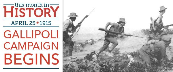 On April 25, 1915, troops from across the British Empire as well as France went ashore on the Gallipoli Peninsula in Turkey, beginning the land offensive of the Gallipoli Campaign (also called the …
