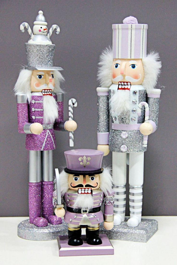 Purple Amp Silver Nutcracker Dolls Nutcracker Dolls