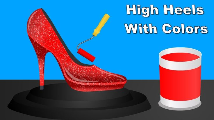 Learn Colors with High Heels, Colours to Kids Children Toddlers, Baby Pl...