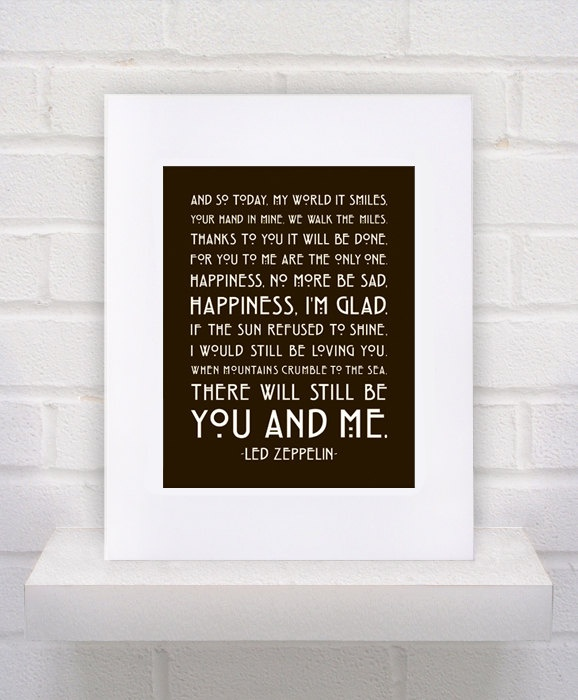 Led Zeppelin Lyrics  Thank You. must use for our wedding today. this is our first dance :)
