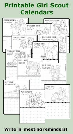 Coloring Calendars from MakingFriends.com