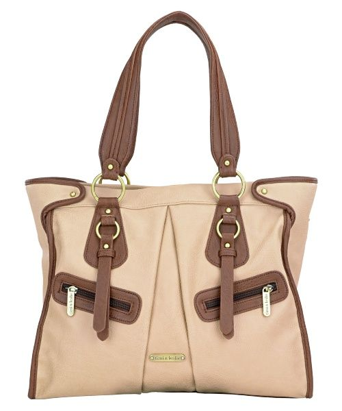 Find this Timi & Leslie Dawn #diaperbag in trendy  Sand/Cinnamon at Hayneedle. #diaperbagblog