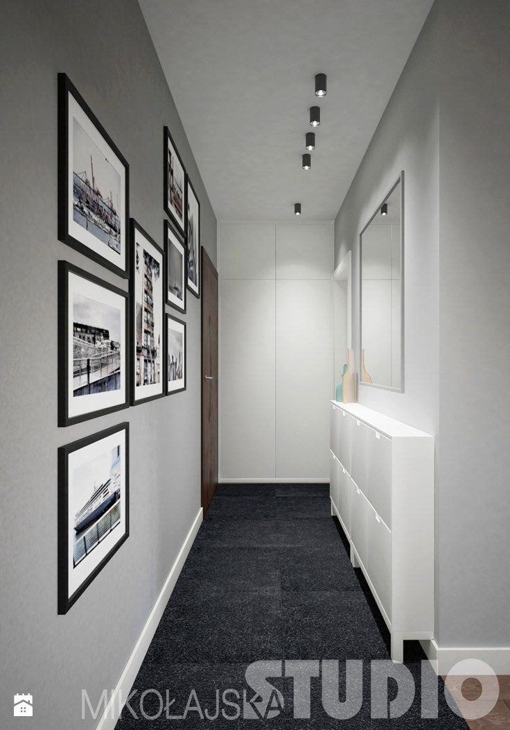 Jak urządzic wąski korytarz - zdjęcie od MIKOŁAJSKAstudio - Hol / Przedpokój - Styl Nowoczesny - MIKOŁAJSKAstudio