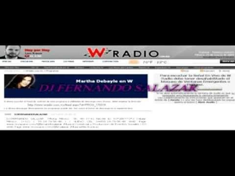 DJ FERNANDO SALAZAR Mencion en W RADIO
