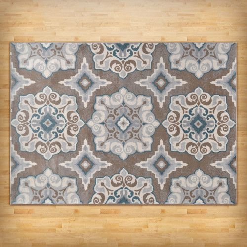 found it at wayfair natural taupeteal area rug
