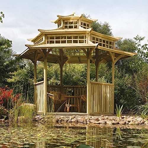 Oriental Pagoda Wooden Garden Gazebo. Want to stand out from the crowd,,,