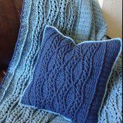 Elegant Braided Waves Pillow - via @Craftsy