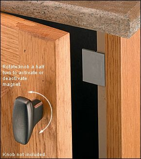 On/Off Magnetic Latches - Hardware for passage to crawlspace