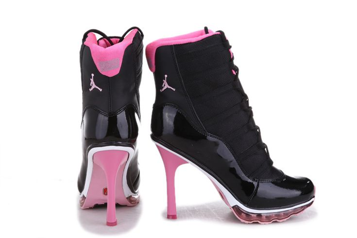 Jordan High Heels 2013 Black Pink