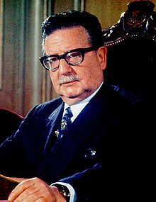 Salvador Guillermo Allende Gossens-- (6/1908-9/1973), more commonly known as Salvador Allende, was a Chilean President, physician & politician, known as the first Marxist to become president of a Latin American country through open elections.