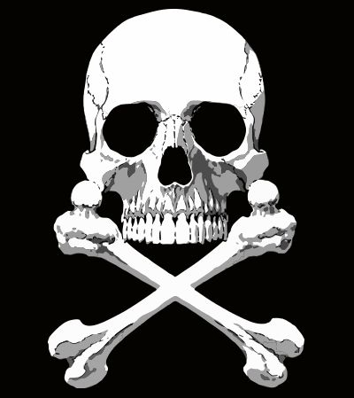 Tee shirt Albator Design Tete de mort noir