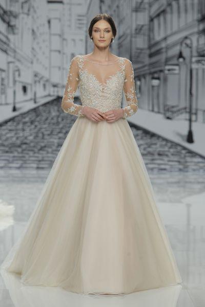 Vestidos de novia línea A 2017: 40 diseños para lucir una figura estilizada y entallada Image: 24