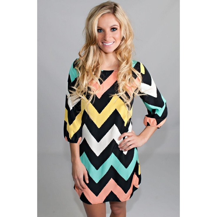 Color Me Pretty Dress 3/4 Sleeves