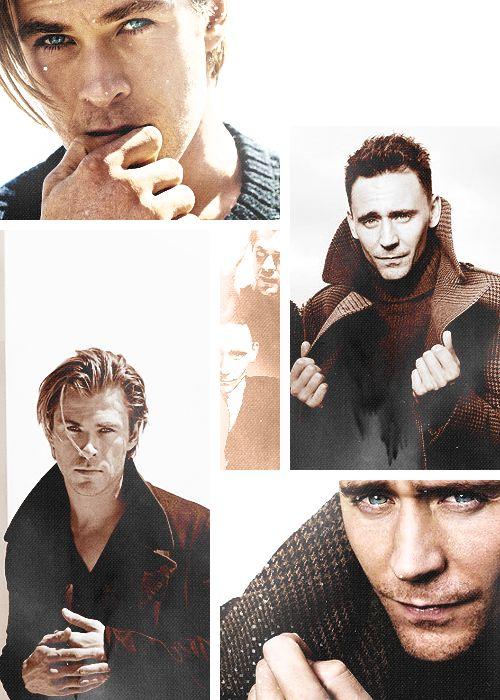 chris hemsworth. tom hiddleston. yummmm.