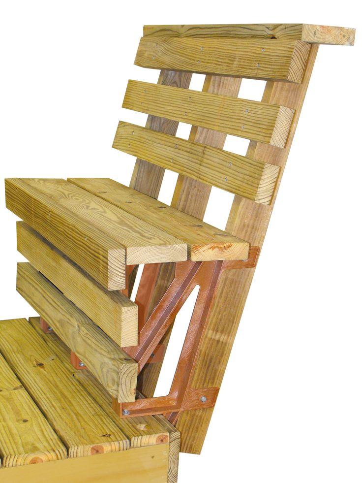 2x4basics 90176 Dekmate Bench Bracket Redwood 2 Pack