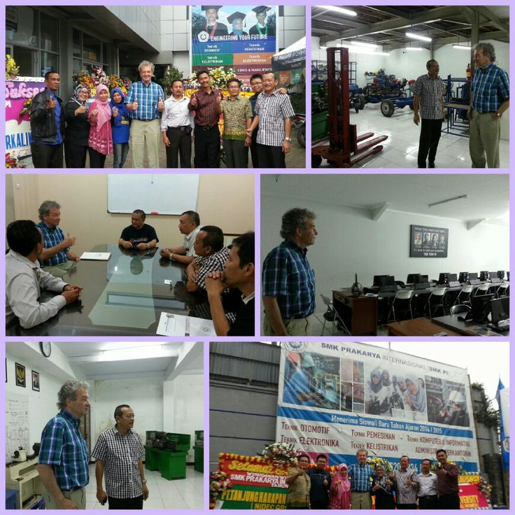 Mr Ebbe Rost van Tonningen visiting SMK Prakarya International (vocational school) because he is very interesting in education