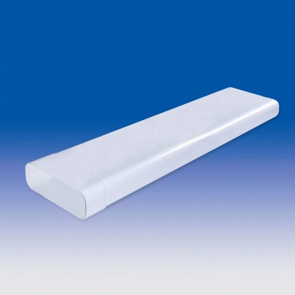 Dunstabzugshauben Abluft Flachkanal 1m mit Muffe FK230x80 230 mm breit x 80 mm hoch