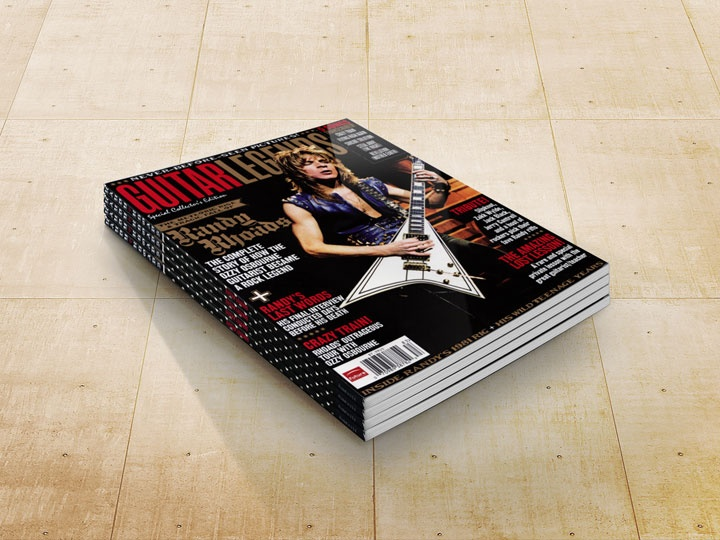 Guitar Legends, the issue that introduced my photos of Randy Rhoads.