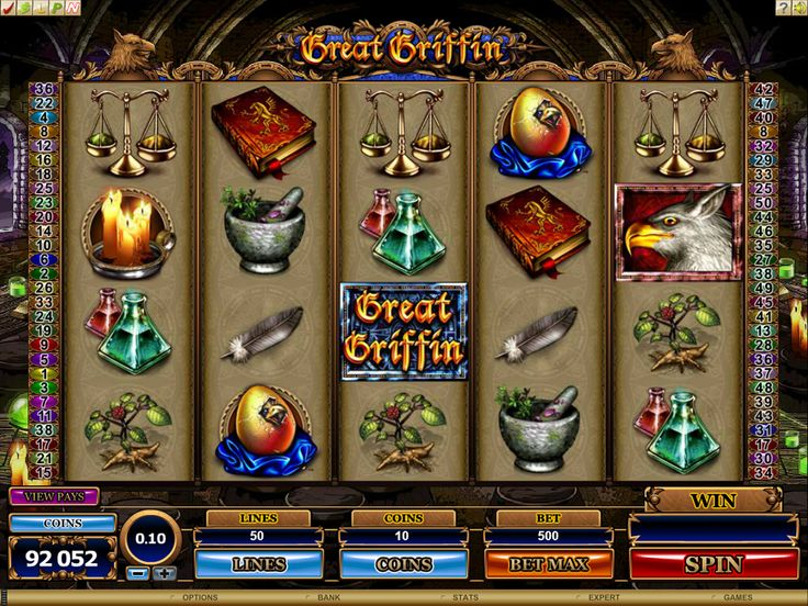 The Great Griffin Slot is 5 Reel 50 Payline game. The game includes extra Wilds as well as a special on screen bonus game. Try your luck on the Great Griffin Online Slot at Crazy Vegas Casino https://www.crazyvegas.com/