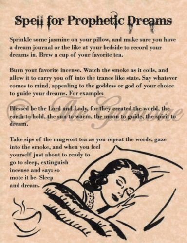 Spell-for-Prophetic-Dreams-Book-of-Shadows-Pages-BOS-Witchcraft-Wiccan-Spell