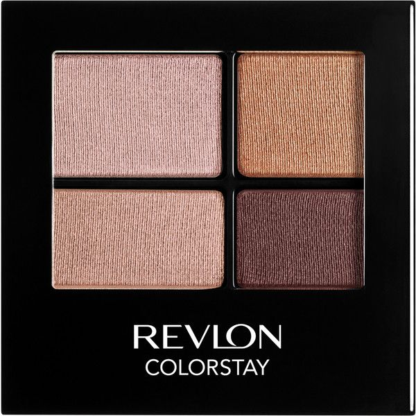Revlon Colorstay 16 Hour Eyeshadow Quad - Decadent ($13) ❤ liked on Polyvore featuring beauty products, makeup, eye makeup, eyeshadow, revlon eyeshadow, revlon, revlon eye makeup, revlon eye shadow and eye brow makeup