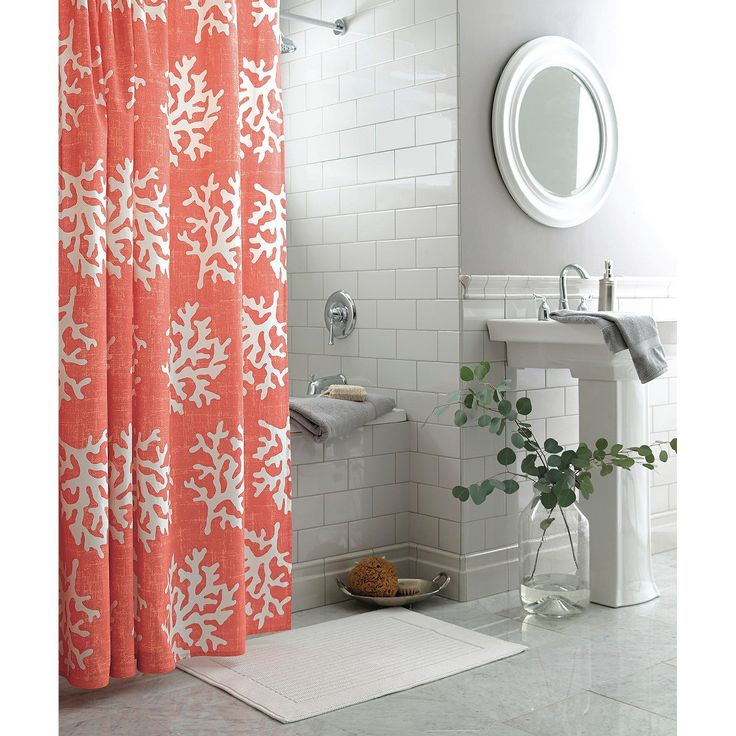 Threshold Shower Curtain - Coral | house ideas | Pinterest | Apt ...