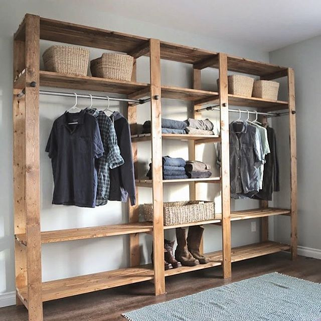 Best 25 wood closet organizers ideas on pinterest closet redo laundry organizer diy and - Clothes storage for small spaces model ...