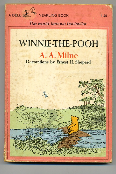 A. A. Milne-my Sister had this book and she had a Winnie the Pooh Bear too, it was well loved, I had to sew buttons to replace his eyes.