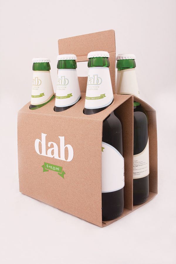 DAB BEER packaging design on Behance