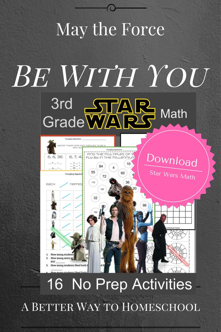 Star Wars themed multiplication practice pages are sure to delight your students. {Download by clicking on the image}