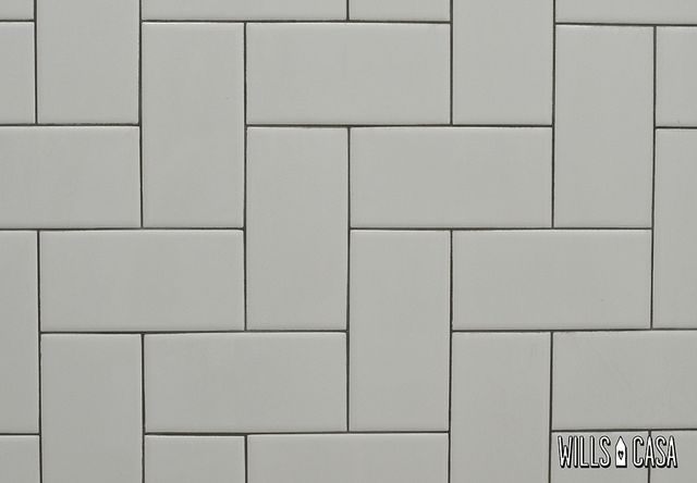 herringbone subway tile 90 degrees | Modern Bathroom for Guests and Such