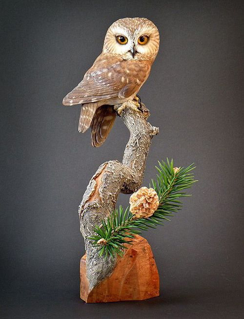 My owl barn amazing wood carving by lona hymas smith
