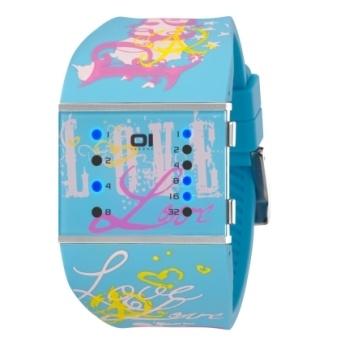 Reloj Slim Square Lady Azul  http://www.tutunca.es/reloj-binario-the-one-love-azul