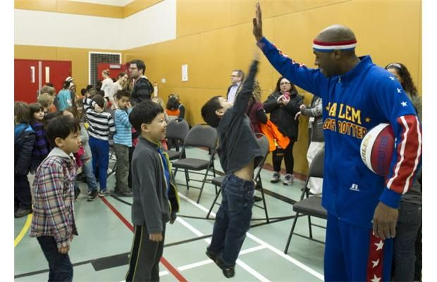 """Video: Harlem Globetrotters in Vancouver talk  """"The ABCs of Bullying Prevention"""""""
