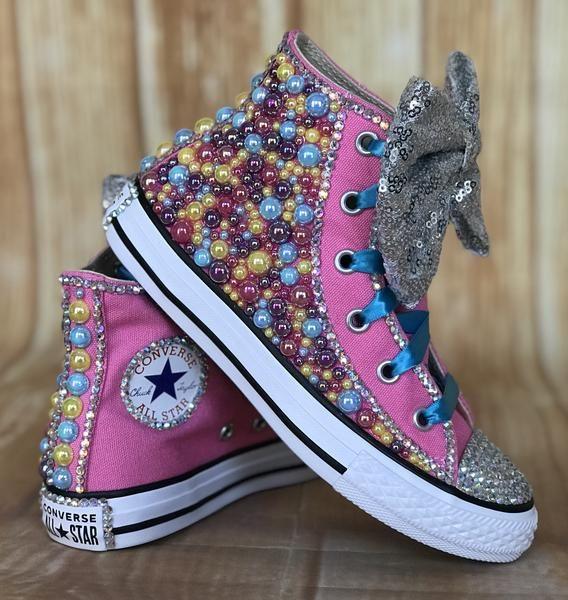 Jojo Blinged Bow Converse Sneakers