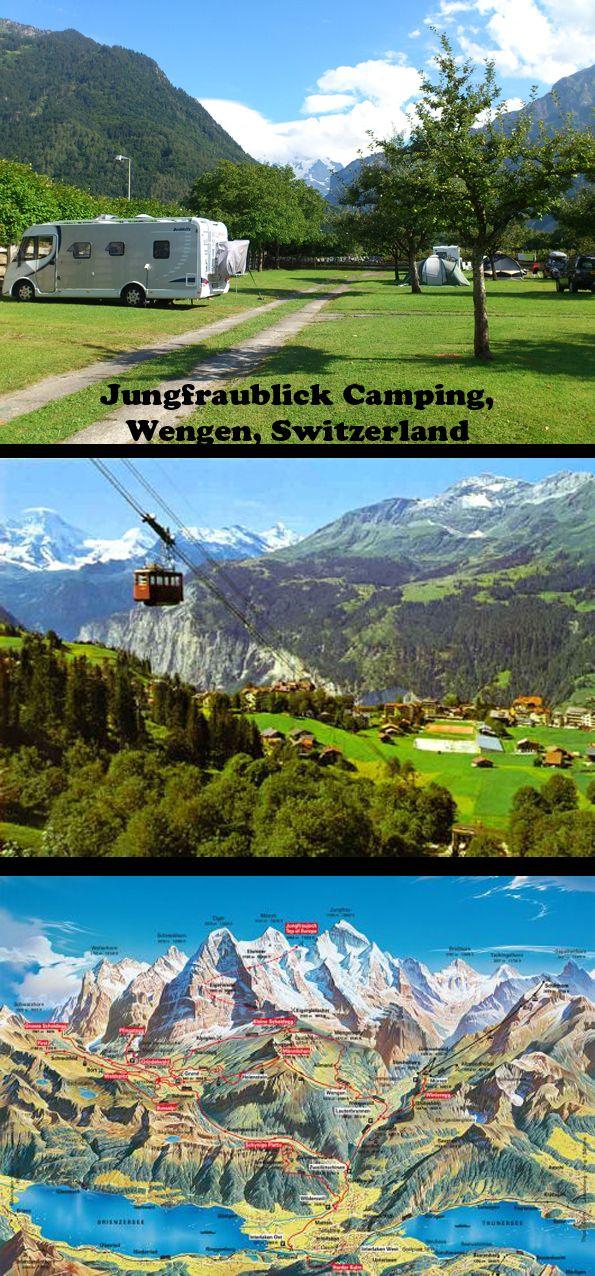 Jungfraublick Camping, Wengen, Switzerland