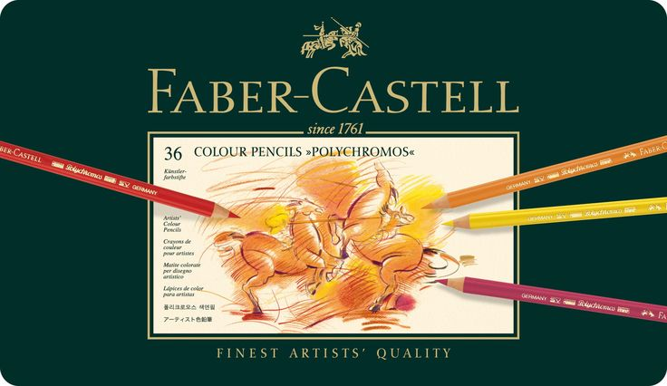 Faber-Castell Polychromos Colour Pencils Tin Of 36: Amazon.co.uk: Toys & Games