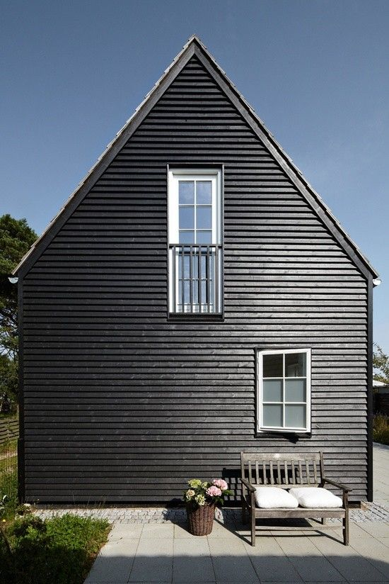 How do wood clad houses fare in the UK? black house sweden