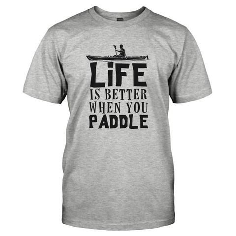 Life Is Better When You Paddle Custom,Men's Gildan T-shirt,Custom T-shirt,Cheap T-shirt,T-shirt Print,Cheap Tees