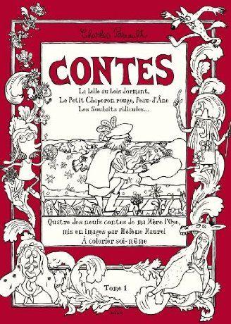 Coloriages littéraires contes enchantés - Charles Perrault