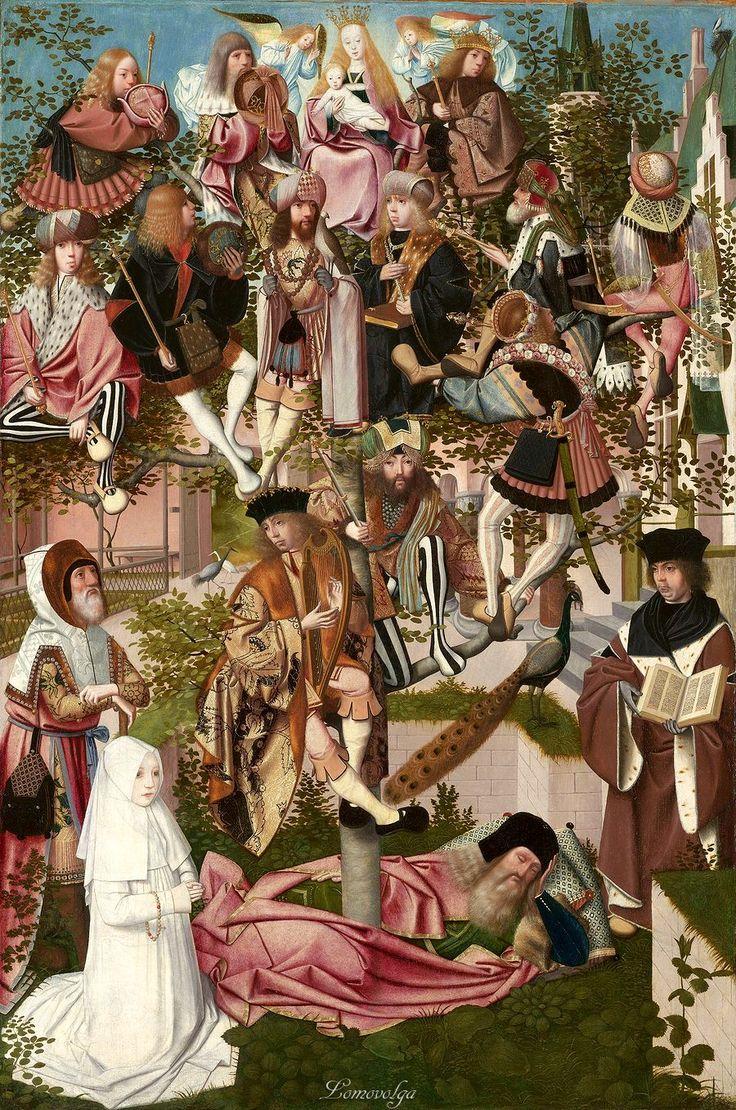 Attributed to Geertgen tot Sint Jans (ca. 1460-ca. 1490) Attributed to Jan Mostaert (circa 1475-1552/1553) The Tree of Jesse, c. 1500 oil on panel, h 89.8cm × w 60.6cm. Museum Boijmans Van Beuningen, Rotterdam